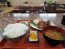 近所の超レトロ食堂にて絶品焼肉定食を愉しむ