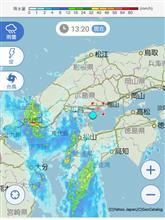 台風通過…