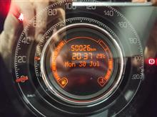 FIAT500 キリ番ゲット、、ならず&燃費記録を更新しました!