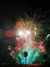 堺の夜市の花火♪