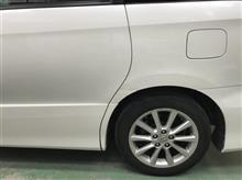 『トヨタ エスティマ 板金・塗装・修理』 東京都立川市内よりご来店のお客様です。