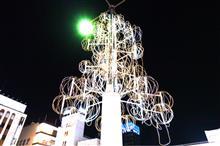 松戸駅西口デッキのイルミ
