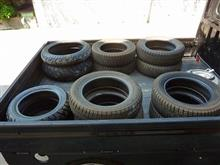 廃タイヤ 4台分 処分してきたよ。