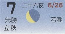 月暦 8月7日(火)