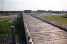 上津屋橋(こうづやばし)、通称「流れ橋」