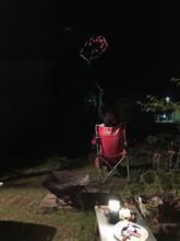 家から花火