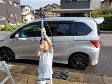 久しぶりの朝 洗車