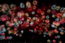 今夜は「中野町の花火」を見に行くので、