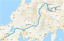 北関東への道2018(8/15のルート)
