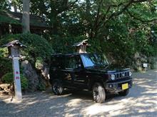 新型ジムニー(JB64)、神社でお祓い!