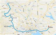 北関東への道2018(8/16のルート)