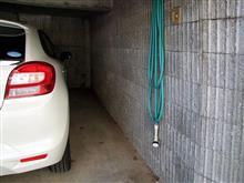 ガレージをプロテクターマットで保護です!