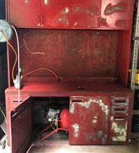 作業台の再塗装