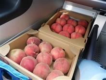 長野の、桃とおそばとジェラートと♪
