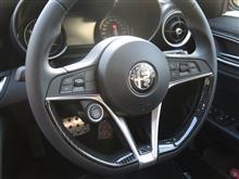 TEZZOデモカー アルファロメオ ジュリア・スポーツにTEZZO STYLE カーボン調 ステアリングスポークカバー for アルファロメオ ジュリアを取り付けました