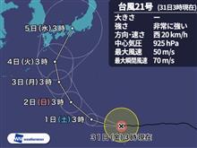 台風の進路....