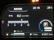 8月電費とNissan EVアプリ