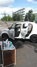洗車すると....。