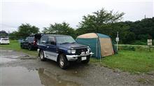 雨のキャンプも……