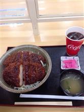 ソースカツ丼だと( ^ω^ )