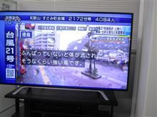台風21号ラプソディー(;´Д`)
