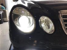 メルセデスベンツ Eクラスワゴン(W211)後期 ヘッドライトHID&フォグ交換&LED化