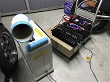 ガレージ(^O^)/100ボルト使用冷暖房完備‼️