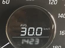 燃費計平均燃費、ついにリッター30超え!