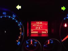 GOLF5/GTI 90,000km、キリ番ゲット
