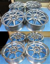 カールソン1Ps鋳造&RAYS-CE28-1Ps鍛造バレル2次元研磨パウダークリアー&ノークリアー
