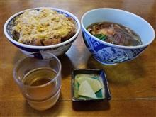 豊田市街のレトロ食堂にてお得なカツ丼ときしめんのセットを愉しむ