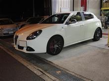 アルファロメオジュリエッタ ブレーキパッド交換 ブレーキパッドは重要保安部品です!