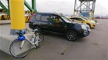 港の集いに自転車でぇ!?