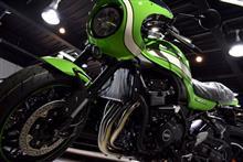 往年の名車を引き継ぐ一台。Kawasaki Z900RS CAFEのガラスコーティング【リボルト川崎】
