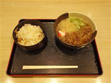名神高速上り大津SA 京風肉そば混ぜごはん付き860円