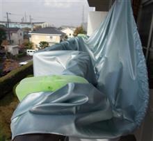 雨の後のボディカバー