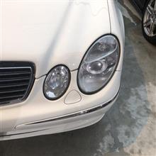 メルセデスベンツ Eクラス W211 E320ワゴン ヘッドライトカバーリペア