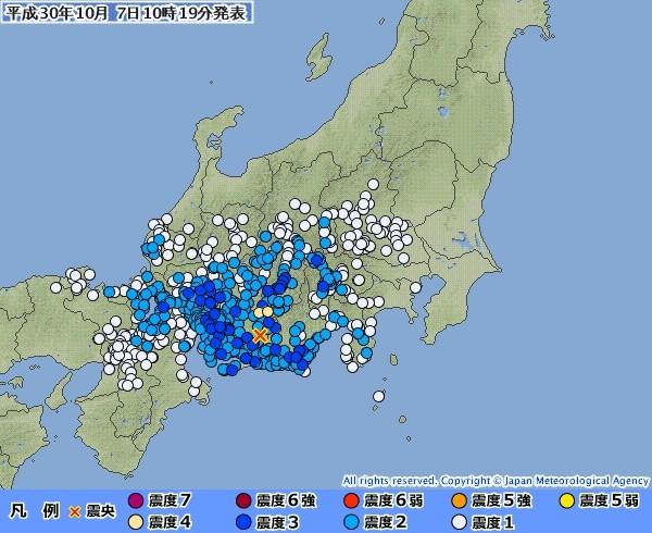 県 地震 愛知