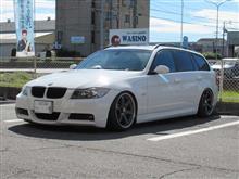 メンテナンスは大事...BMW E91 325 エンジンオイル交換 FUCHS