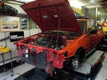 AE86 後期3ドア レビンGT-V コンプリートカー製作 その2「フロント廻り・エンジンルームバラシ」