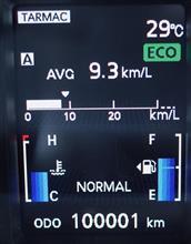 ミラー番100001km
