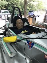 只今スーパーF J整備点検中(^O^)/