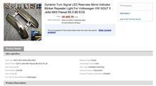 VW EOS Dynamic Turn Signal LED Rearview Mirror Indicator Blinker Repeater Light