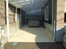 北側カーポート・・続・土間コンクリート塗装
