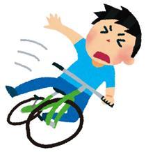 目の前でふらふらしたおじさんの自転車が倒れた!