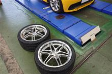 タイヤ交換&ホイール換装完了