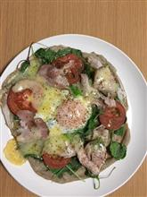 最近の夕食 きりたんぽ鍋、ガレットモドキ