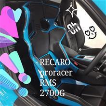 レカロプロレーサーRSM 塗り塗りしてみました