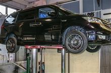 お取り付け:ホンダ エリシオン プレステージ 4WD に下回り補強パーツ