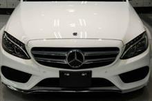 煌くポーラーホワイト メルセデスベンツ C200 4MATIC アバンギャルド ガラスコーティング【リボルト金沢】